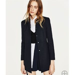 Zara Gathered Shoulder Frock Coat
